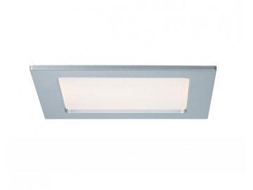 PAULMANN - Zápustný LED panel hranatý 12W 2700K matný chrom IP44, P 92080