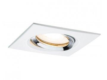 PAULMANN - Zápustné svítidlo LED Nova IP65 hranaté 7W GU10 bílá / chrom 1ks výklopné, P 92904