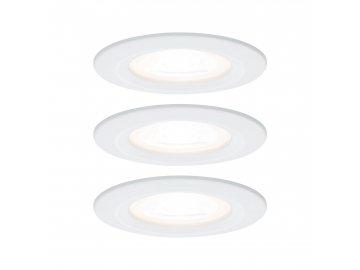 PAULMANN - Vestavné svítidlo LED Nova kruhové 3x6,5W GU10 bílá mat nevýklopné, P 93442