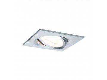 PAULMANN - Vestavné svítidlo LED Nova hranaté 1x6,5W hliník broušený nastavitelné, P 93455