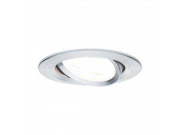 PAULMANN - Vestavné svítidlo LED Nova kruhové 1x6,5W GU10 hliník broušený nastavitelné 3-krokové-stmívatelné, P 93468