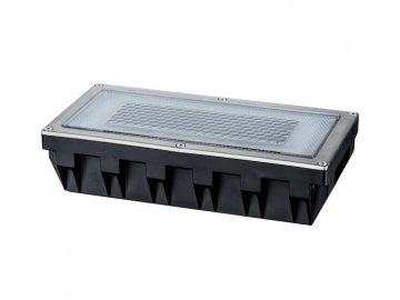 PAULMANN - Zemní zápustné svítidlo Solar Box LED ušlecht.ocel 1ks