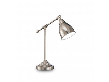 IDEAL LUX 012209 stolní lampa Newton TL1 Nickel 1x60W E27
