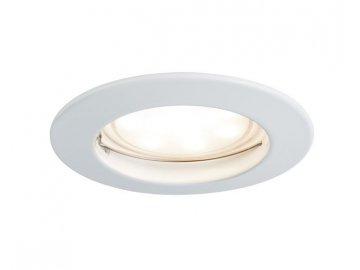 PAULMANN - Zápustné svítidlo LED Coin satin kulaté 7W bílá 1ks stmívatelné, P 93955