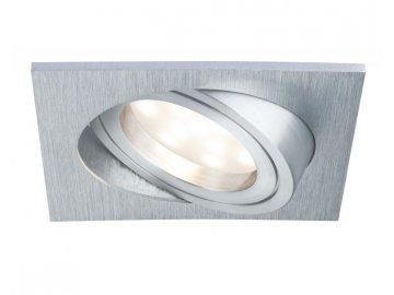 PAULMANN - Zápustné svítidlo LED Coin satin hranaté 6,8W hliník 1ks výklopné - P 93985