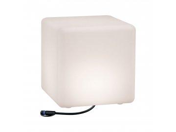 Plug&Shine světelný objekt Cube IP67 3000K 24V délka hrany 30cm - PAULMANN P 94181