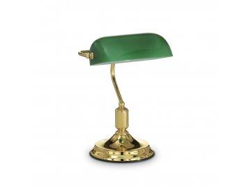 IDEAL LUX 013657 bankovní lampa Lawyer TL1 Ottone 1x60W E27