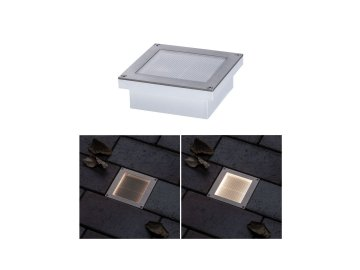 Solární LED zemní svítidlo Aron 10x10 cm pohybové čidlo - PAULMANN P 94238