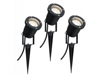 Outdoor LED svítidlo - zápich do země IP44 3x3,5W GU10 černá - PAULMANN P 98897