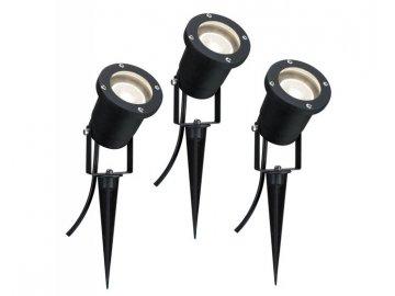 PAULMANN - LED svítidlo - zápich do země IP44 3x3,5W GU10 černá, P 98897