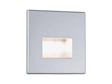 PAULMANN - Zápustné svítidlo do stěny LED Edge matný chrom vč.1,1W, 2700K, P 99495