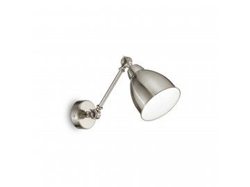 IDEAL LUX 016399 nástěnné svítidlo Newton AP1 Nickel 1x60W E27
