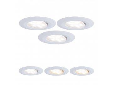 Vestavné svítidlo LED Calla kruhové 3x5,5W bílá mat výklopné nastavitelná teplota barvy - PAULMANN P 99935