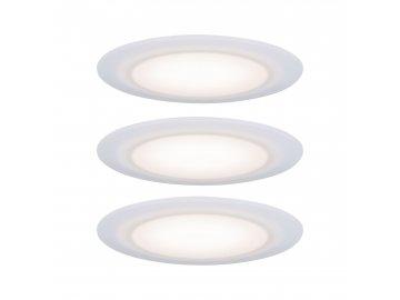 PAULMANN - Premium vestavná svítidla sada LED stmívatelné 2700K 3x6,5W 230 V saténove, P 99940