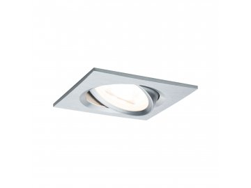 PAULMANN - Vestavné svítidlo LED Nova hranaté 1x6,5W GU10 hliník broušený nastavitelné