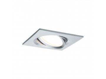 PAULMANN - Vestavné svítidlo LED Nova Plus hranaté 1x6,8W hliník výklopné stmívatelné
