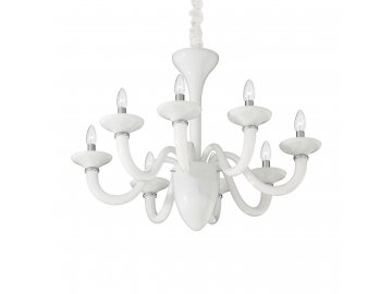 IDEAL LUX 019390 lustr White Lady SP8 Bianco 8x40W E14
