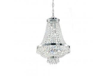 IDEAL LUX - Závěsné svítidlo Caesar SP12 cromo 114279 55cm stříbrné