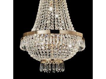 Křišťálový lustr Ideal Lux Caesar SP12 oro 114743 55cm zlatý