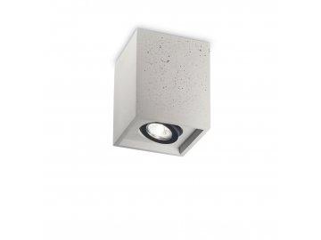 IDEAL LUX - Stropní svítidlo Oak PL1 square cemento 150475 hranaté betonové