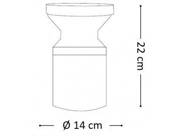 Venkovní sloupkové svítidlo Ideal Lux Torre PT1 Small antracite 158891 šedé 22cm IP44