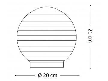Stolní svítidlo Ideal Lux Mapa Riga TL1 D20 161433 bílé, 20cm