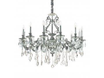 Závěsné svítidlo Ideal Lux Gioconda SP12 argento 164953 stříbrné 90cm