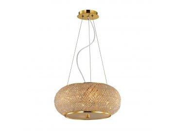 Závěsné svítidlo Ideal Lux Pasha' SP14 oro 164984 zlaté 65cm
