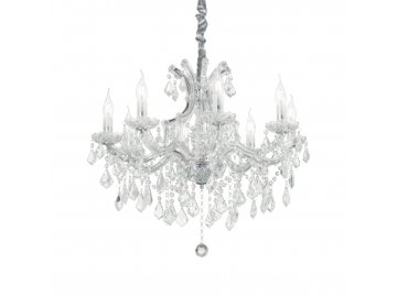 Závěsné svítidlo Ideal Lux Napoleon SP8 cromo 167244 chromové 67cm