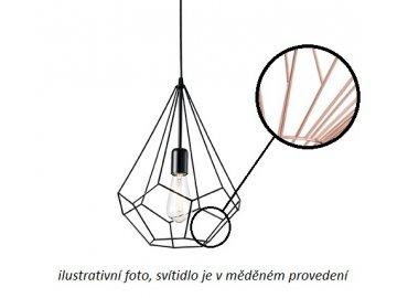 Závěsné svítidlo Ideal Lux Ampolla-3 SP1 rame 167367 měděné 30cm