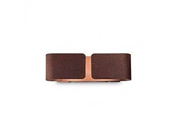 Nástěnné svítidlo Ideal Lux Clip AP2 mini corten 170923 hnědé 25cm