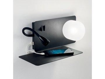 IDEAL LUX - LED Nástěnné svítidlo Book-1 AP2 nero 174808 černé levostranné
