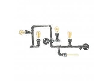 IDEAL LUX - Stropní svítidlo Plumber PL5 vintage 175324 šedá patina 5x42W
