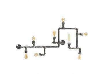IDEAL LUX - Stropní svítidlo Plumber PL8 vintage 175331 šedá patina 8x42W
