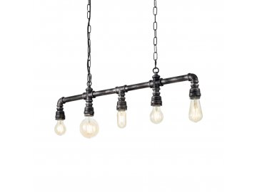 Závěsné svítidlo Ideal Lux Plumber SP5 vintage 175355 šedá patina 5x60W