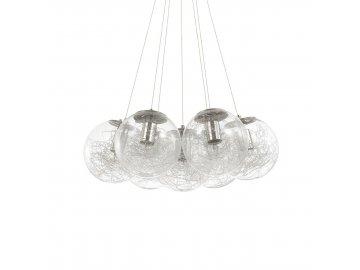 IDEAL LUX - Závěsné svítidlo Mapa Sat SP7 nickel 176062 stříbrné 60cm