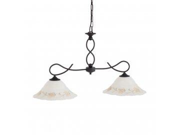 IDEAL LUX 021416 závěsné svítidlo FOGLIA BI2 Small 2x60W E27