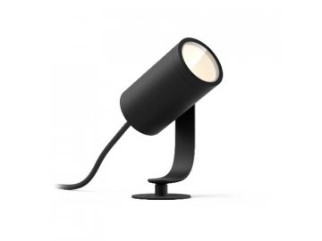 Hue LED White and Color Ambiance Venkovní spotové zemní/ nástěnné svítidlo Philips Lily 17428/30/P7 černé s adaptérem, 19cm