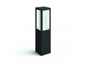 Hue LED White and Color Ambiance Venkovní sloupkové svítidlo Philips Impress 17431/30/P7 černé 40cm 2200K-6500K RGB