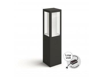 Hue LED White and Color Ambiance Venkovní sloupkové svítidlo Philips Impress 17454/30/P7 černé 40cm 2200K-6500K RGB s adaptérem