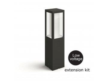 Hue LED White and Color Ambiance Venkovní sloupkové svítidlo Philips Impress 17434/30/P7 černé 40cm 2200K-6500K RGB extension kit