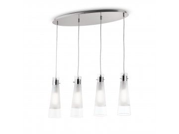 IDEAL LUX 023038 závěsné svítidlo Kuky Clear SP4 4x40W E27