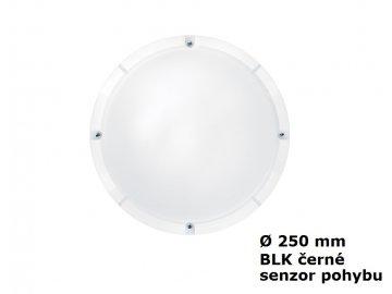 LED Nástěnné a stropní svítidlo THORNeco LARA BLK 250 800 840 MWS IP65 10W 4000K 96666110 černé s mikrovlnným čidlem