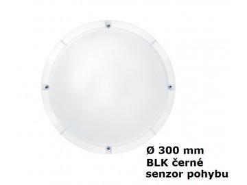 LED Nástěnné a stropní svítidlo THORNeco LARA BLK 300 1200 840 MWS IP65 13W 4000K 96666114 černé s mikrovlnným čidlem