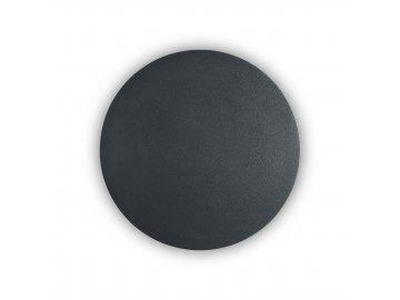 IDEAL LUX - LED Nástěnné svítidlo Cover AP1 round big nero 195759 kulaté černé 20cm