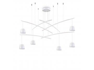 IDEAL LUX - LED Závěsné svítidlo Fish SP6 bianco 196985 bílé 160cm