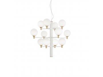 IDEAL LUX - Závěsné svítidlo Copernico SP12 bianco 197302 bílé 71cm