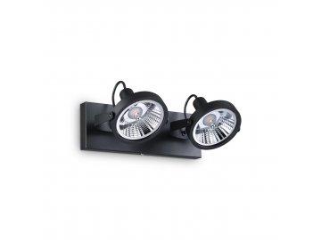 IDEAL LUX - Bodové svítidlo Glim PL2 nero 200248 2x50W černé 31cm