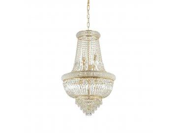 Závěsné svítidlo Ideal Lux Dubai SP10 ottone 207216 10x40W zlaté 52cm
