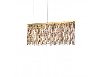 Závěsné svítidlo Ideal Lux Elisir SP6 ottone 200064 6x40W zlaté 80cm